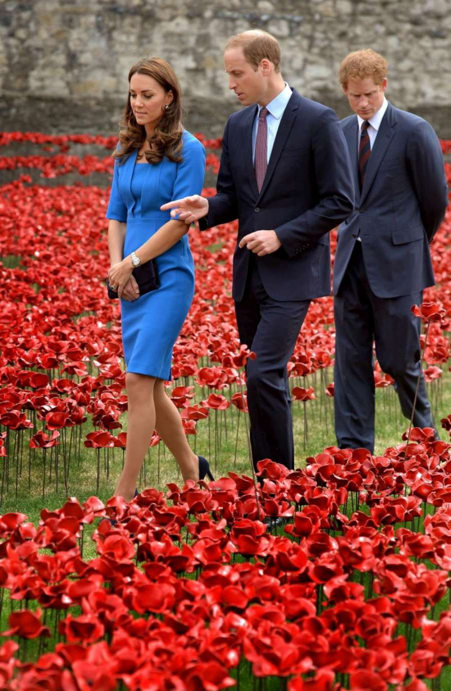 Royalty at WWI Soldiers Poppy Installation-1920