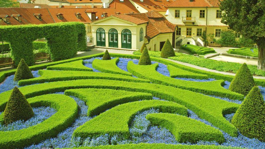 Blue and Green Garden HD Wallpaper by Wallsev.com