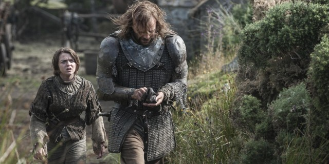 """Arya Stark and """"The Hound"""" on Game of Thrones"""