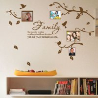 Family Tree Bird Photo Frame Nursery Art Wall Stickers ...