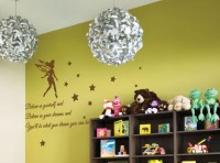 Tinkerbell Stars Children Nursery Wall Stickers Quotes ...