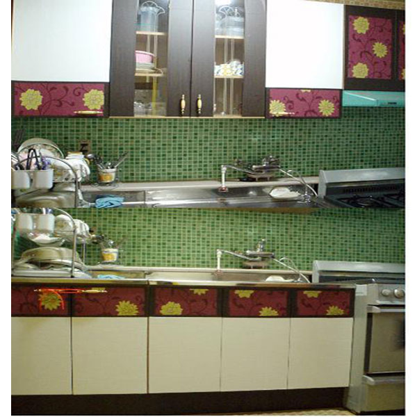 green tile contact paper peel and stick wallpaper