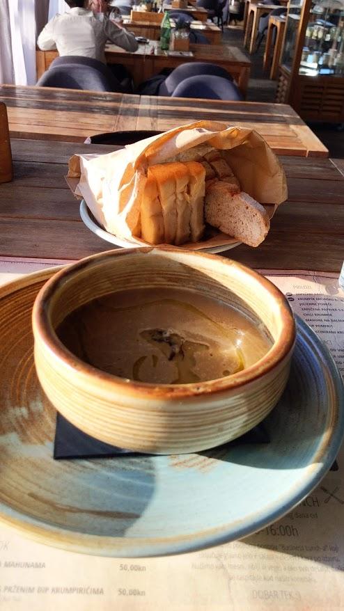 Cream of Leek Soup with Truffles