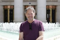 Lee in front of Croatian central bank, last summer