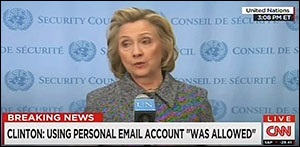 Hillary Clinton at March 10, 2015 Press Conference Discussing Her Use of Private Email Server for Her Work While Secretary of State