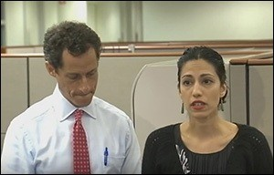 Disgraced Former Congressman Anthony Weiner and His Wife, Long Time Hillary Clinton Aide, Huma Abedin