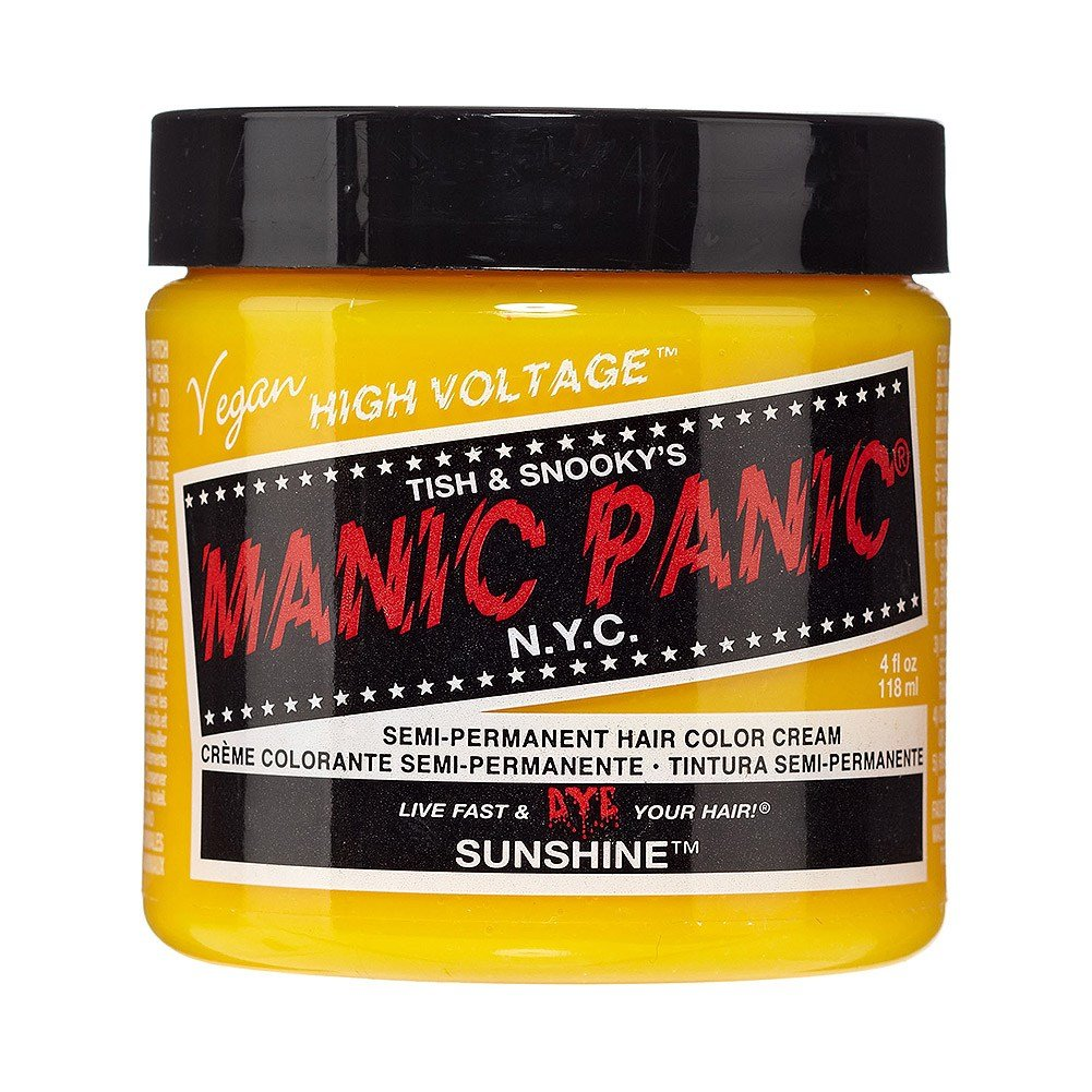 New Manic Panic Sunshine High Voltage Classic Yellow Hair Dye Ideas With Pictures