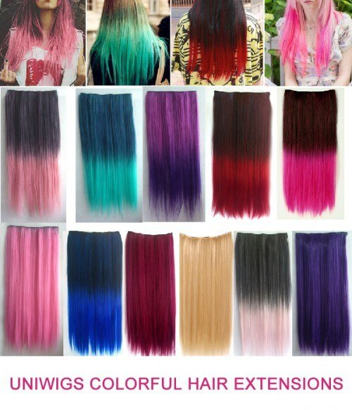 New Colorful 60Cm Clip In Hair Extension Uniwigs ® Official Site Ideas With Pictures