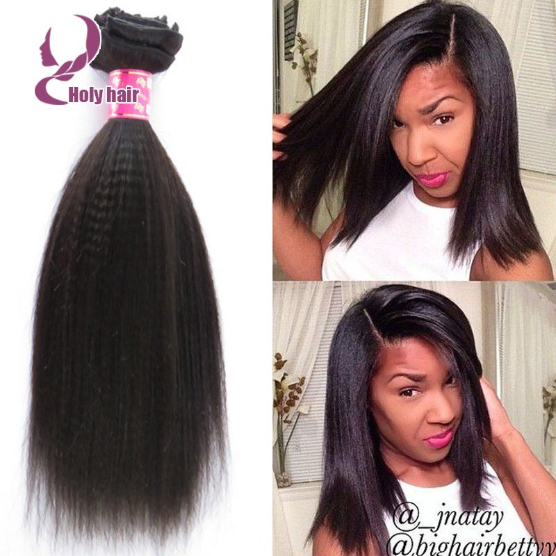 New Light Coarse Yaki Clip In Human Hair Extensions Cheap Ideas With Pictures
