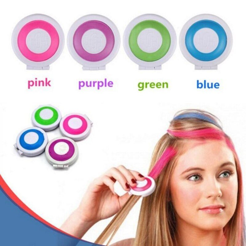 New 1 Set 4 Colors Diy Dye Hair Temporary Chalk Hair Dye Ideas With Pictures