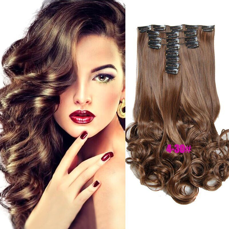New Cheap Synthetic Clip In Hair Extensions Colorful Cury Wavy Ideas With Pictures