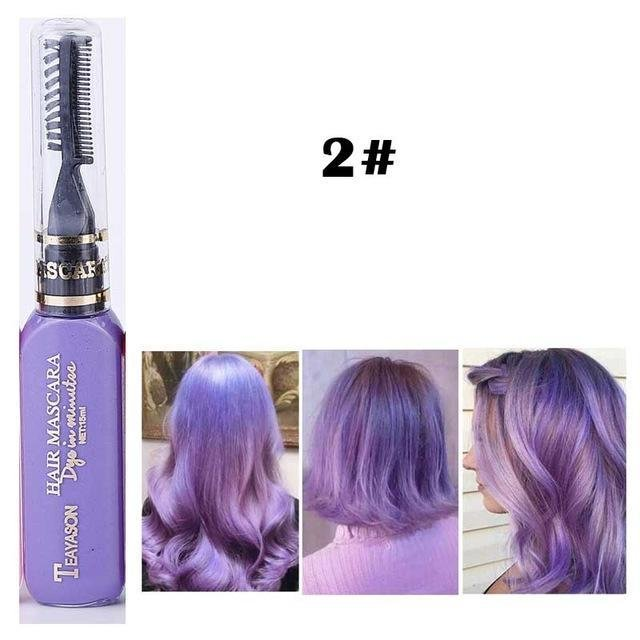 New 13 Colors One Time Hair Color Hair Dye Temporary Non Toxic Diy Hair Color Mascara Dye Cream Blue Ideas With Pictures