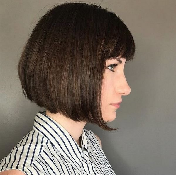 New Short Blunt Bob Haircuts 2018 2019 With Fringe Ideas With Pictures Original 1024 x 768