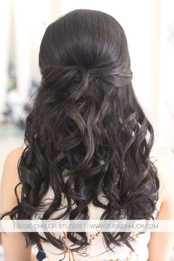 New Susie Chhuor Asian Hair Half Up Half Down Wedding Hair Ideas With Pictures