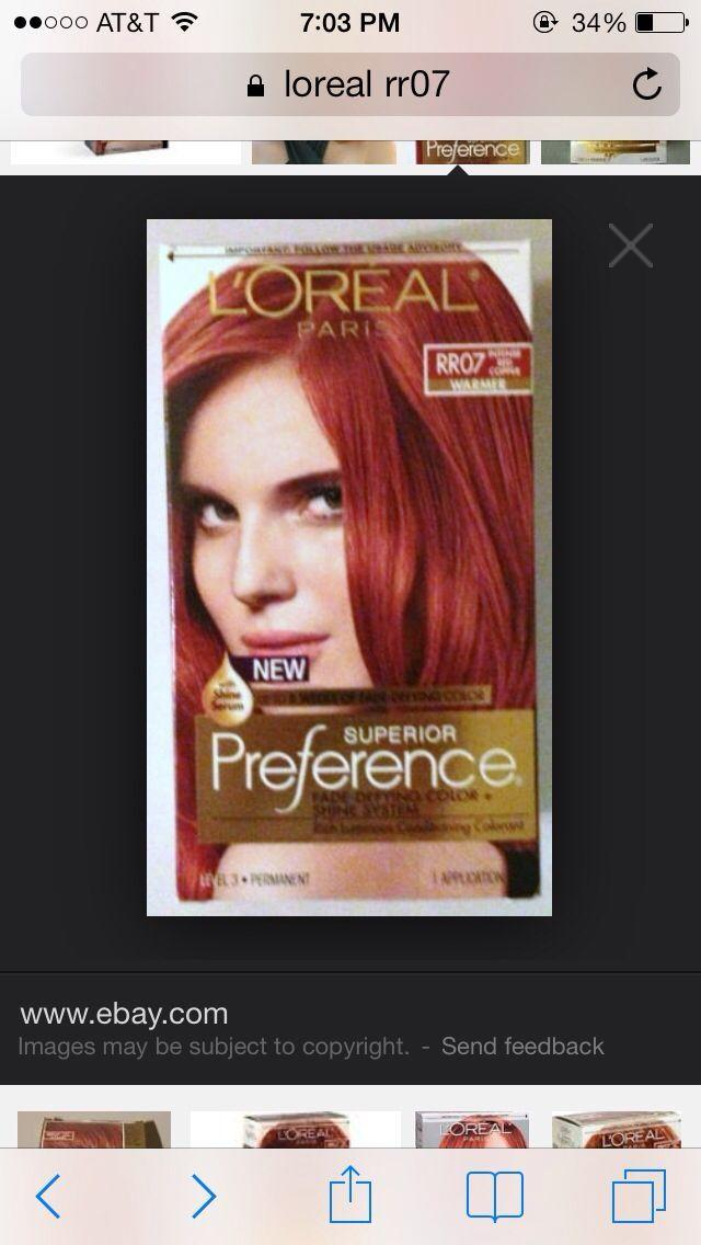 New L Oreal Rr07 Intense Red Copper Hair In 2019 Hair Dye Ideas With Pictures