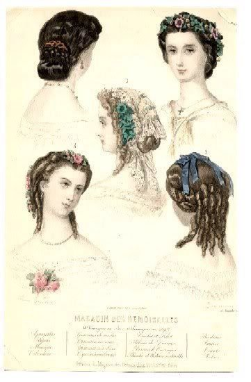 New 1860S Evening Hair Fashion Plate French From My Ideas With Pictures