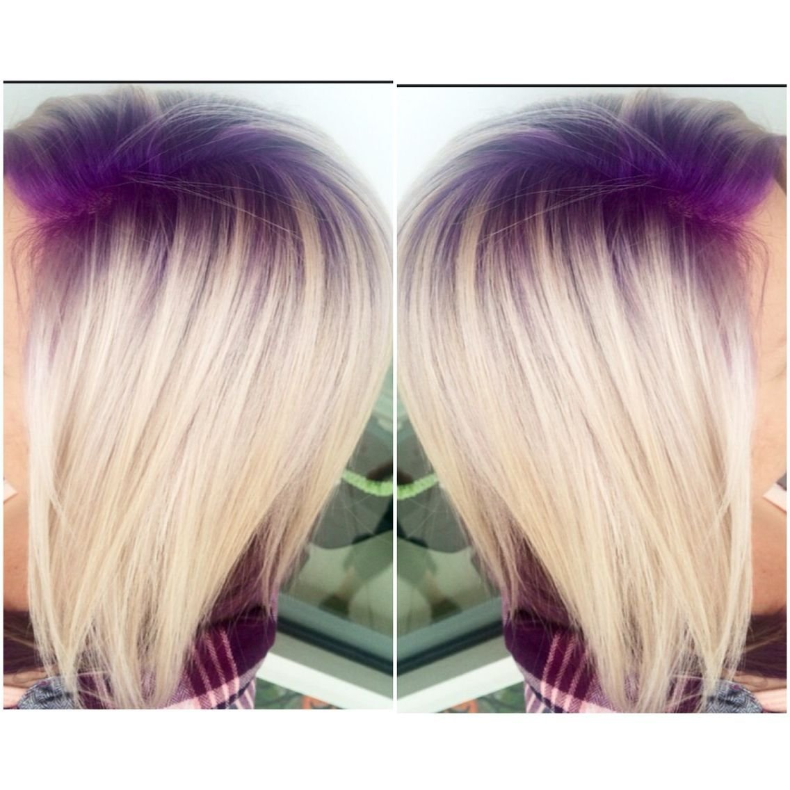 New Purple Violet Shadow Root With Platinum Blonde Hair Follow Ideas With Pictures