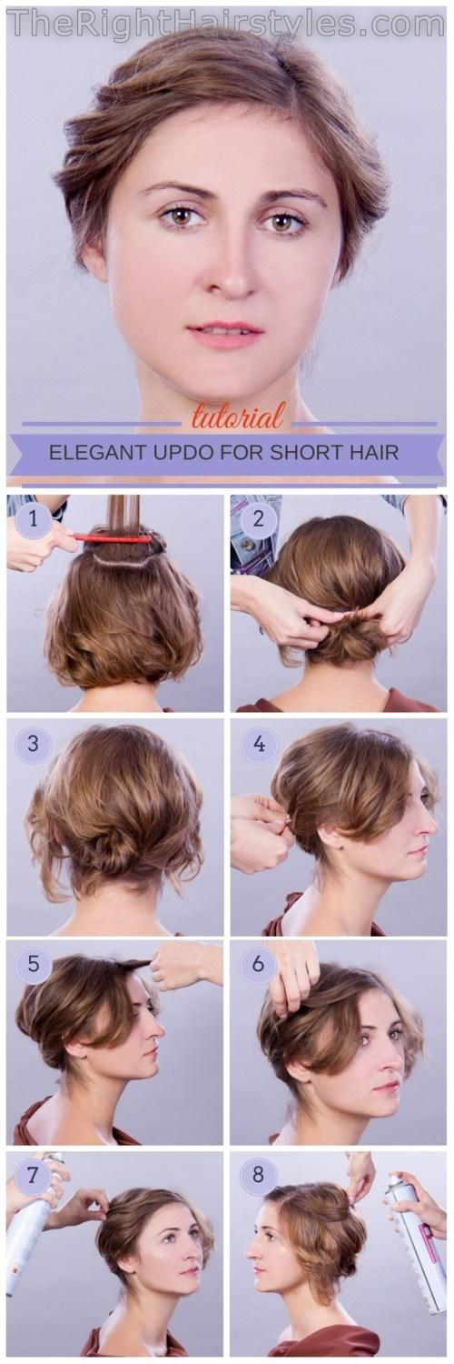 New How To Elegant Updo For Short Fine Hair Ideas With Pictures