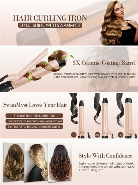 New Amazon Com Swanmyst Curling Iron 1 5 Inch Ceramic Hair Curling Wand 1 1 2 Inch With Cool Tip Ideas With Pictures Original 1024 x 768