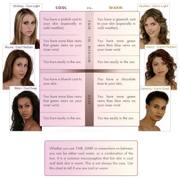 New Cool And Warm Skin Tone Overview Modern Glamour Woc Ideas With Pictures