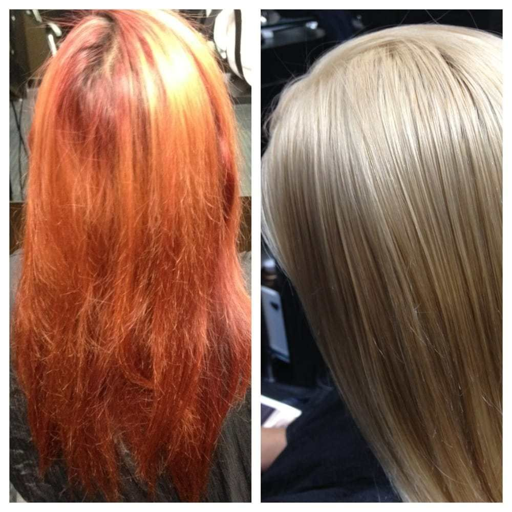 New Before And After Red Hair To Blonde Color Correction By Ideas With Pictures