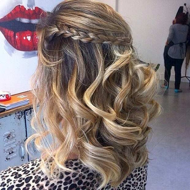 New 31 Half Up Half Down Prom Hairstyles Stayglam Ideas With Pictures