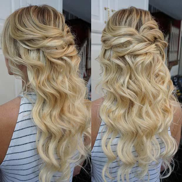 New 31 Half Up Half Down Prom Hairstyles Page 2 Of 3 Stayglam Ideas With Pictures