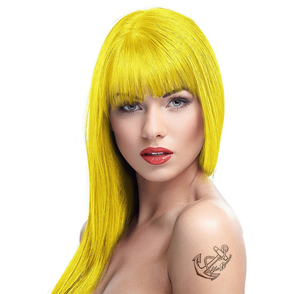 New Crazy Color Semi Permanent Canary Yellow Colour Hair Dye Ideas With Pictures