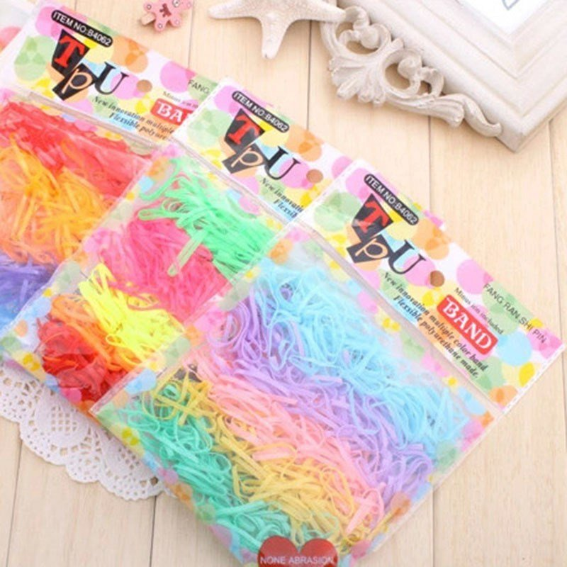 New Candy Colored Rubber Bands Loom Bands Girls Diy Hair Ring Ideas With Pictures