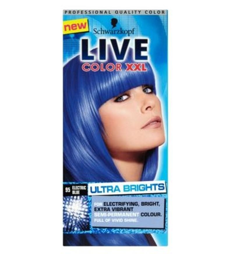 New Schwarzkopf Live Xxl Ultra Brights 95 Electric Blue Semi Ideas With Pictures