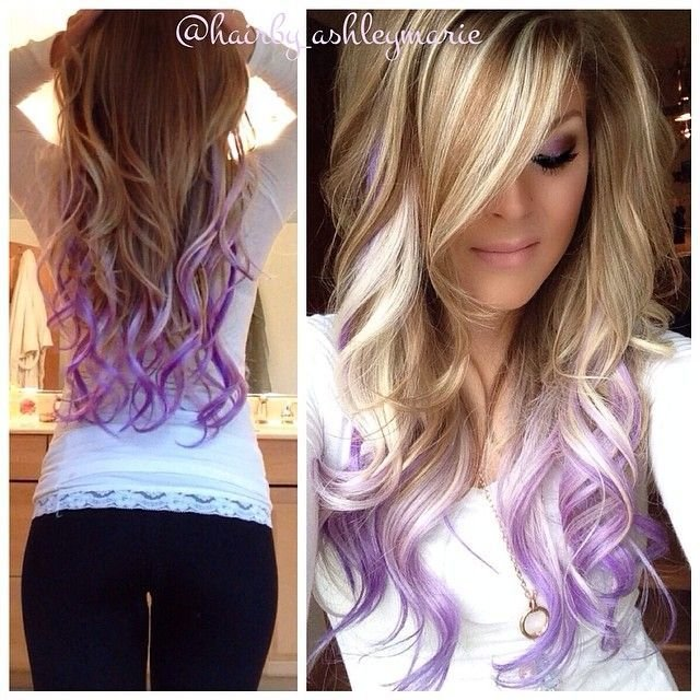 New Colorful Tips Dip Dyed Hair The Haircut Web Ideas With Pictures