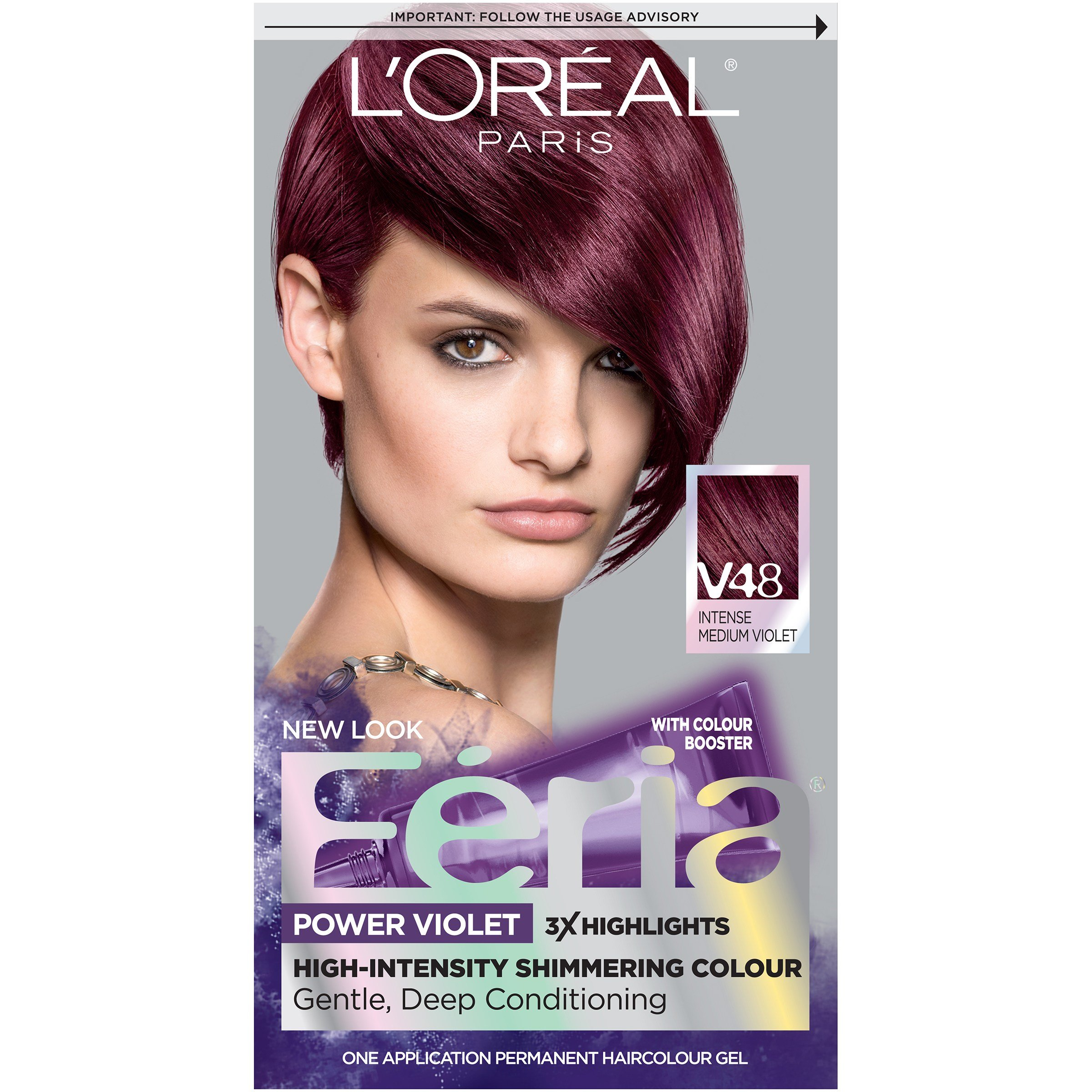 New L Oréal Paris Feria Hair Color V48 Intense Medium Violet Ideas With Pictures