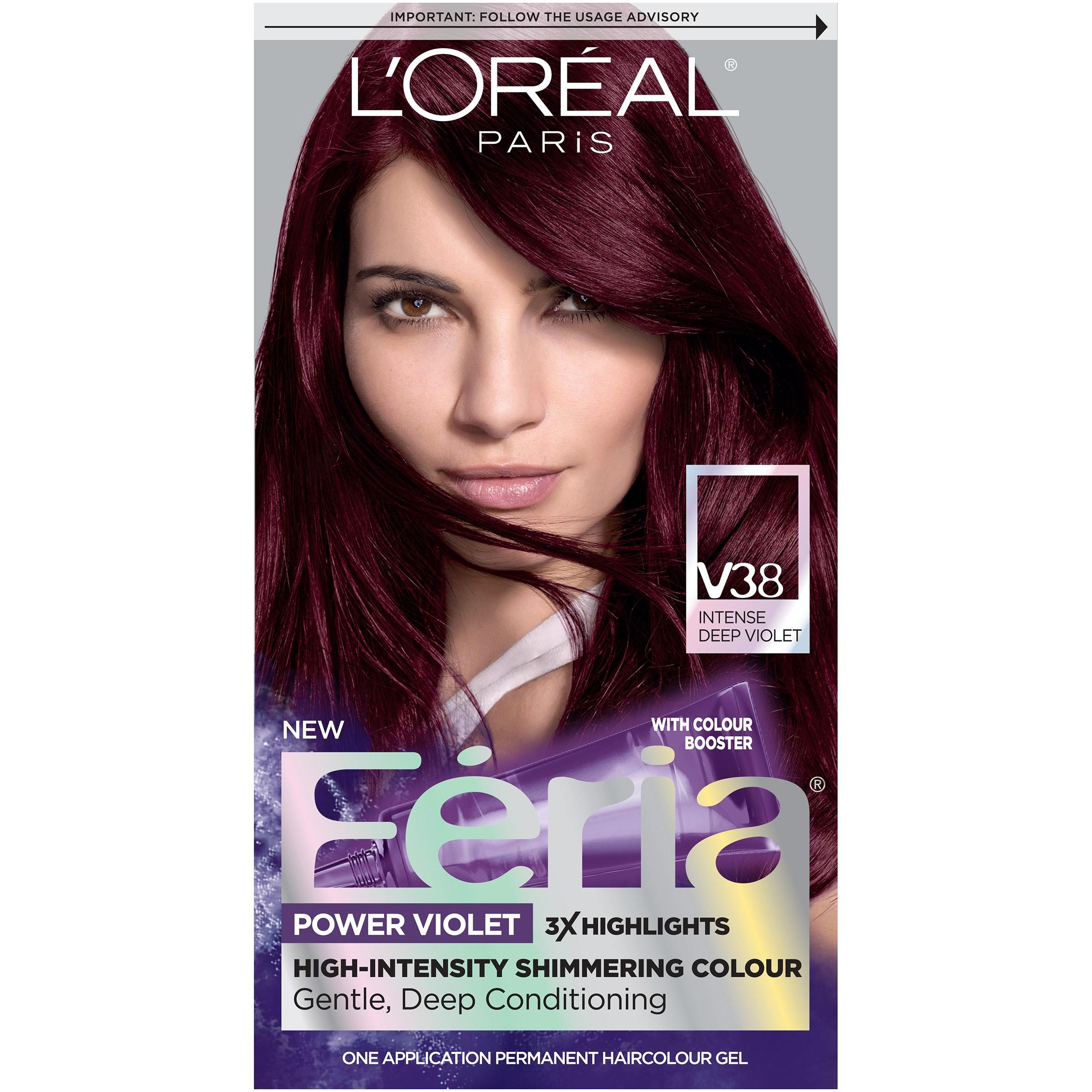 New Loreal Paris Feria Hair Color V38 Intense Deep Violet Ebay Ideas With Pictures