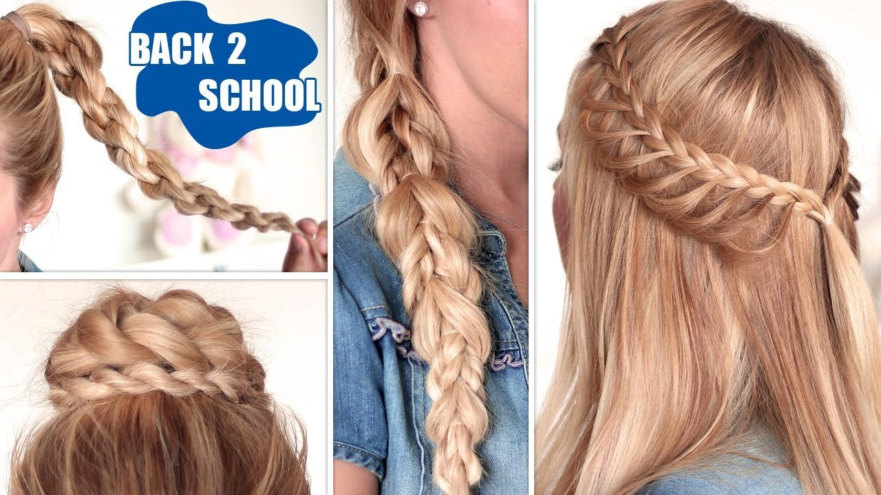 New Quick And Easy Hairstyles For School For Long Hair Hairstyle For Women Man Ideas With Pictures