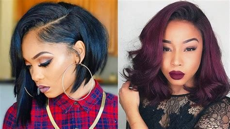New Trendy Bob Hairstyles 2019 Black Women Bob Haircuts For Ideas With Pictures