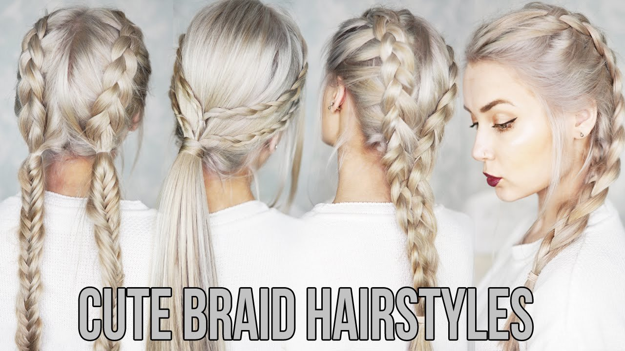 New 3 Cute Easy Braid Hairstyles Youtube Ideas With Pictures