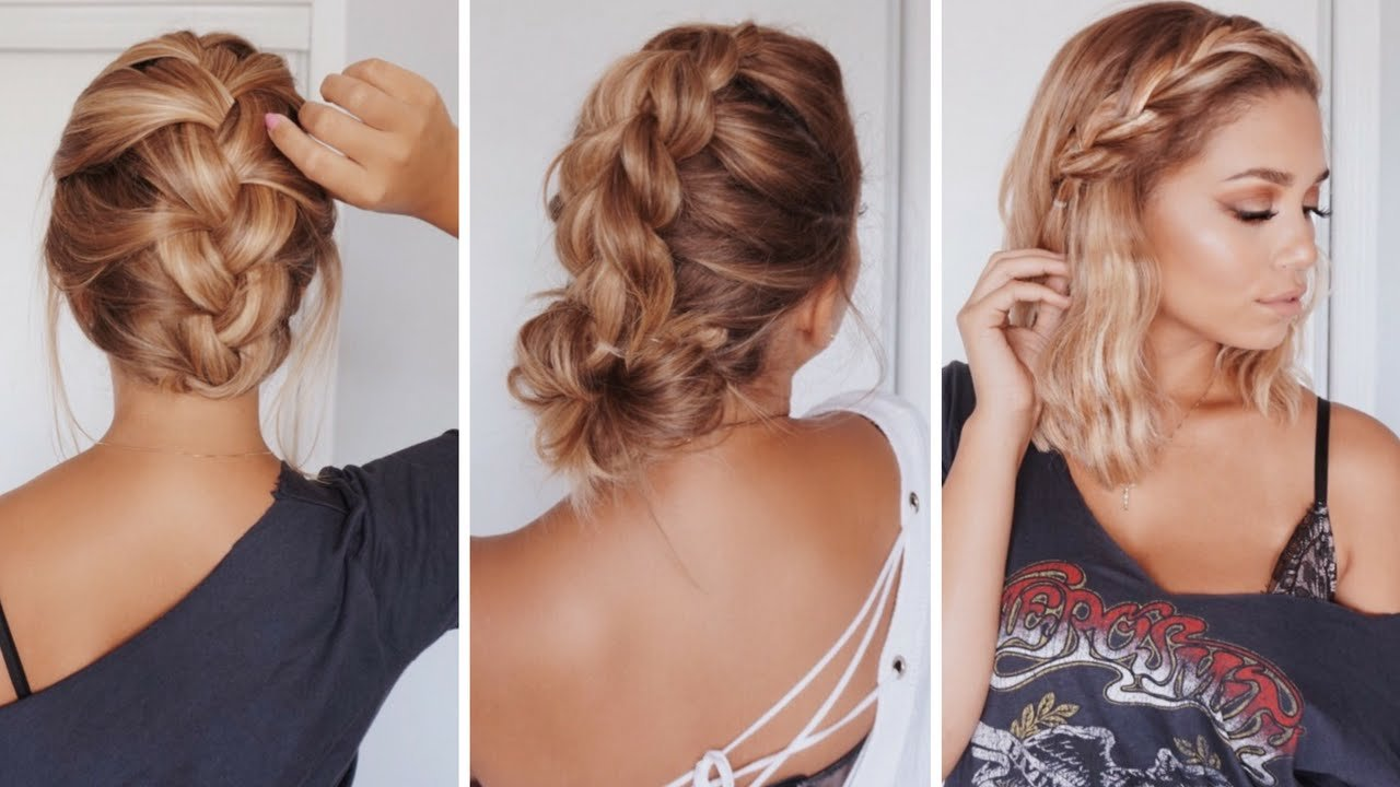 New 3 Easy Hairstyles For Short Medium Length Hair Ashley Ideas With Pictures