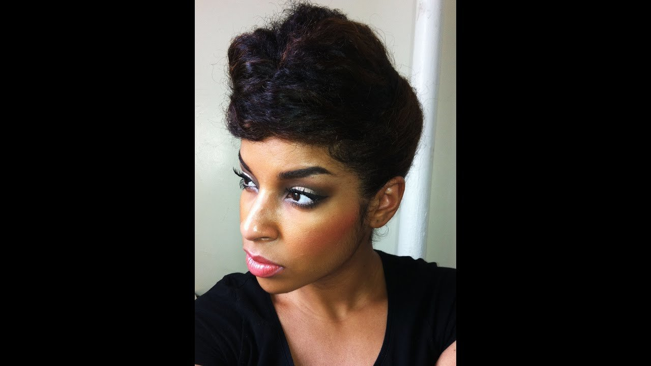 New Pinup Up Do With Natural Hair 11 Mths Into Journey Youtube Ideas With Pictures