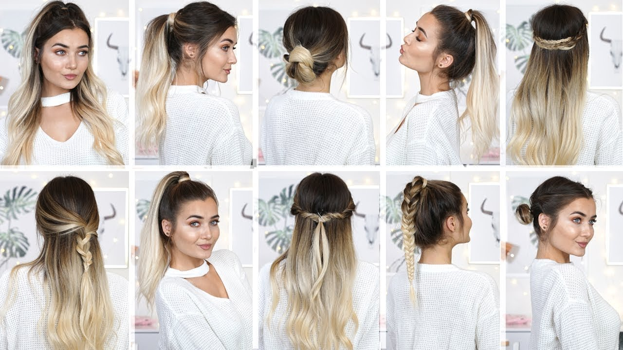 New 10 Easy Heatless Back To School Hairstyles Youtube Ideas With Pictures