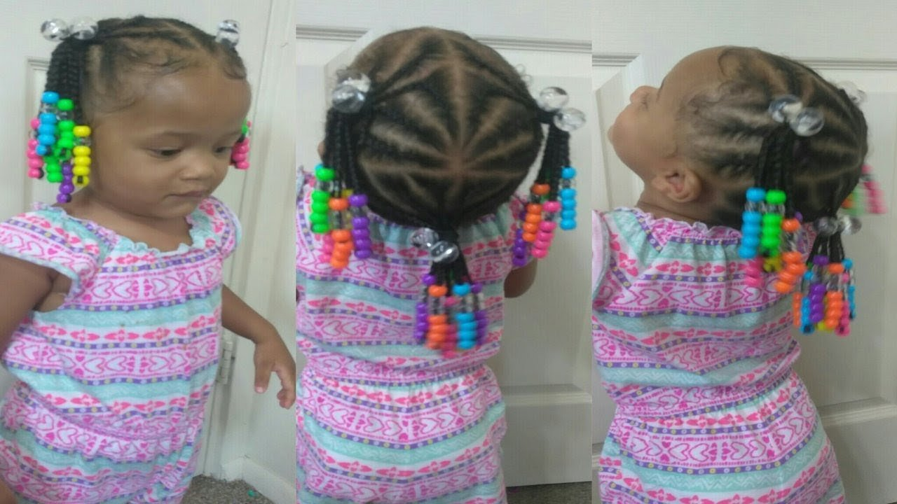 New Cute Hairstyle For 1 Year Old Toddler Natural Hair Braids Ideas With Pictures