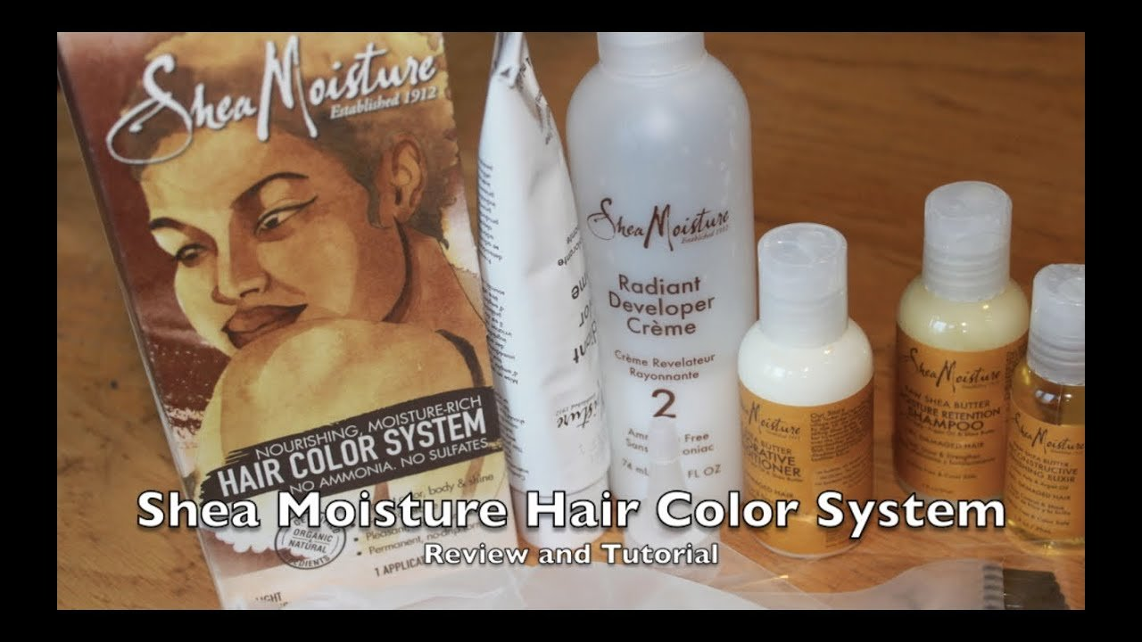 New Shea Moisture Hair Color System Review And Tutorial Youtube Ideas With Pictures