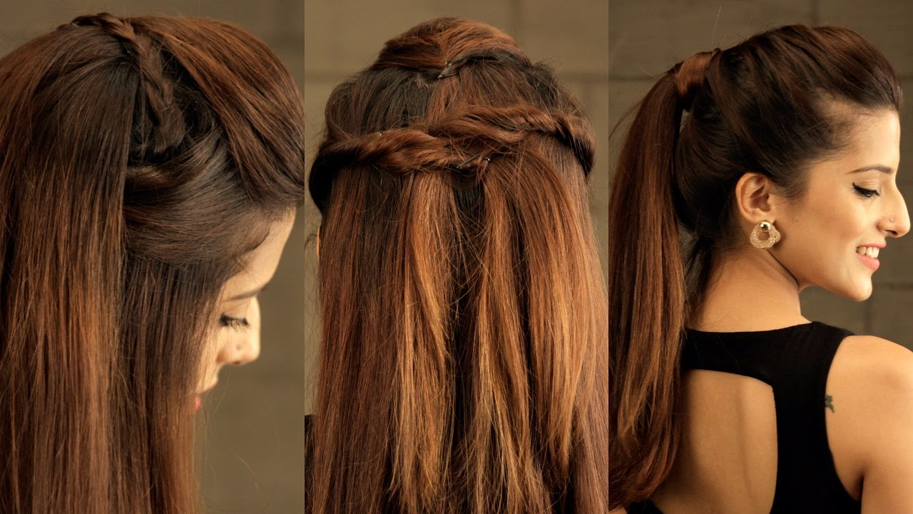New 3 Easy Everyday Pouf Hairstyle For School College Work Ideas With Pictures
