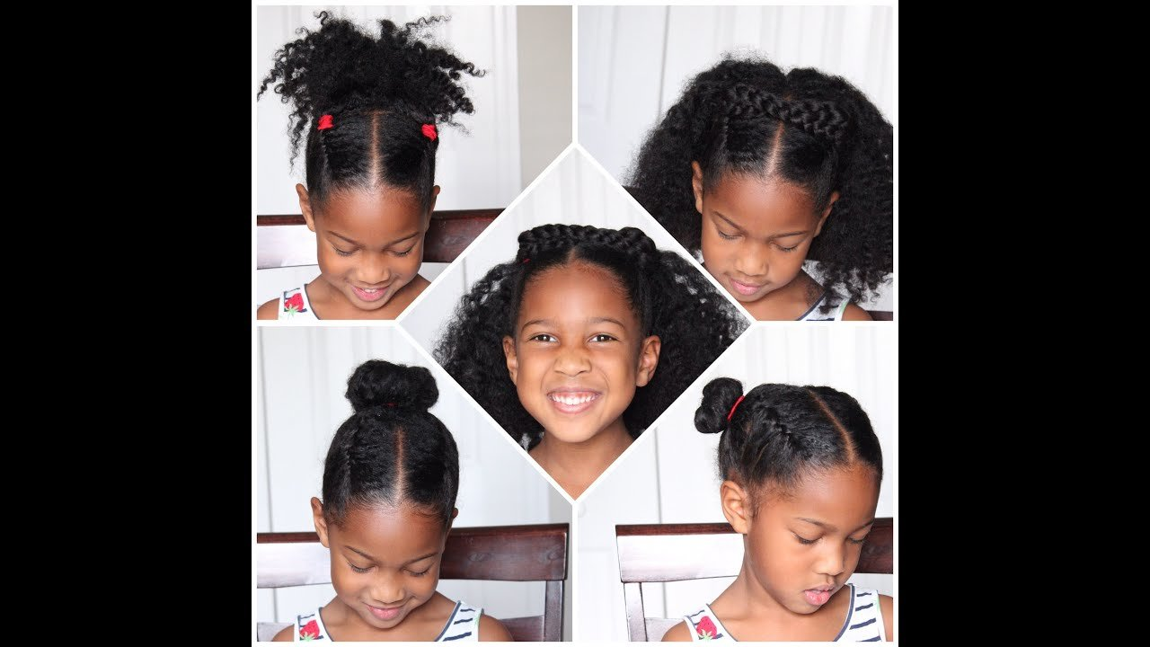 New 4 Easy Back To School Natural Hairstyles For Kids Youtube Ideas With Pictures
