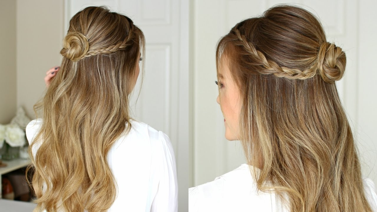 New Easy Half Up Prom Hairstyle Missy Sue Youtube Ideas With Pictures