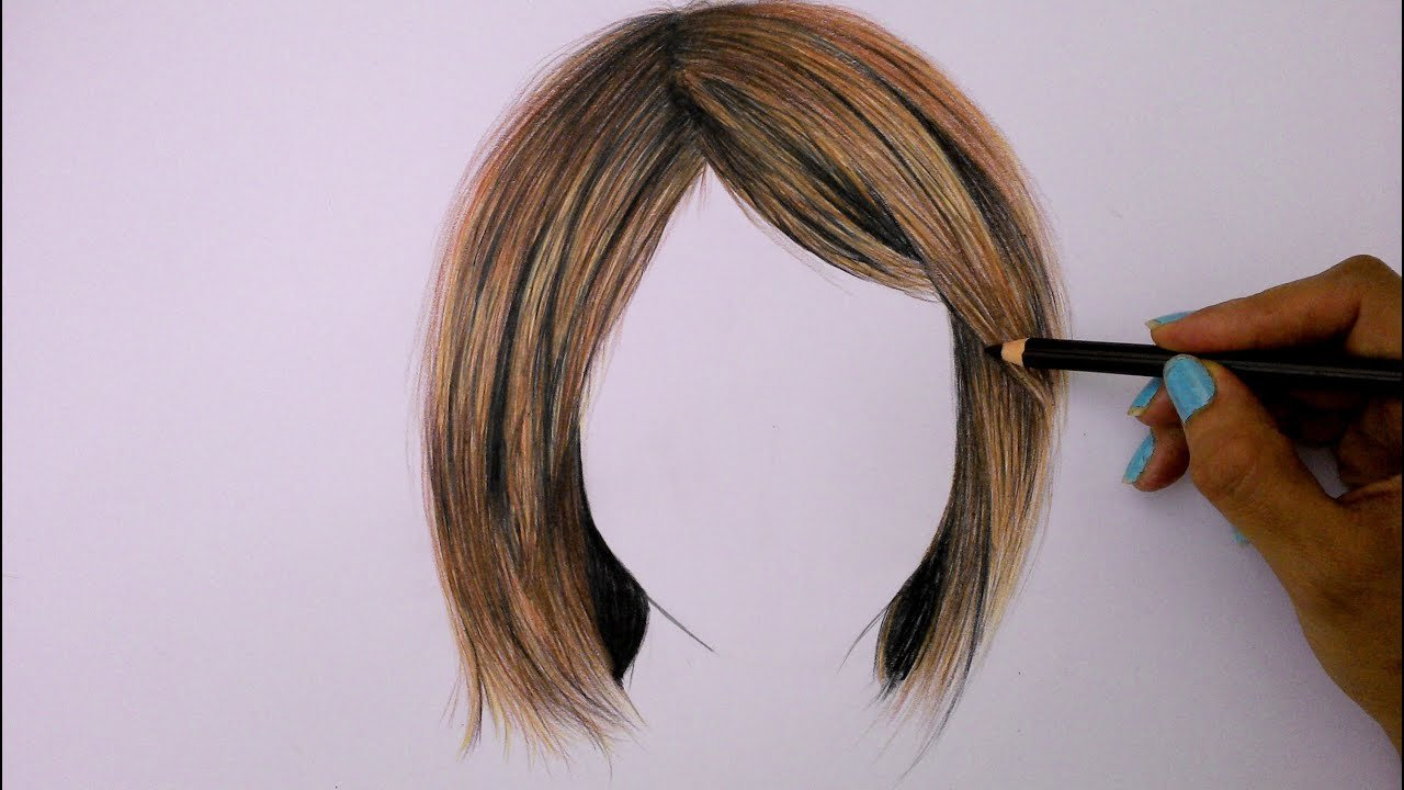 New How To Draw Hair Using Colored Pencils Youtube Ideas With Pictures
