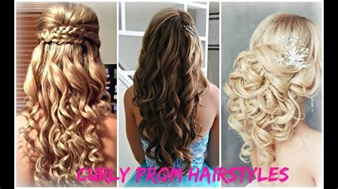 New Curly Prom Hairstyles Youtube Ideas With Pictures