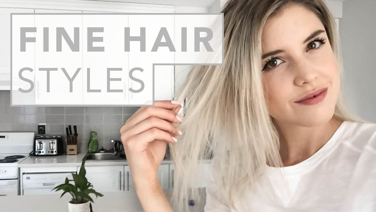 New Hair Hacks For Fine And Thin Hair Youtube Ideas With Pictures