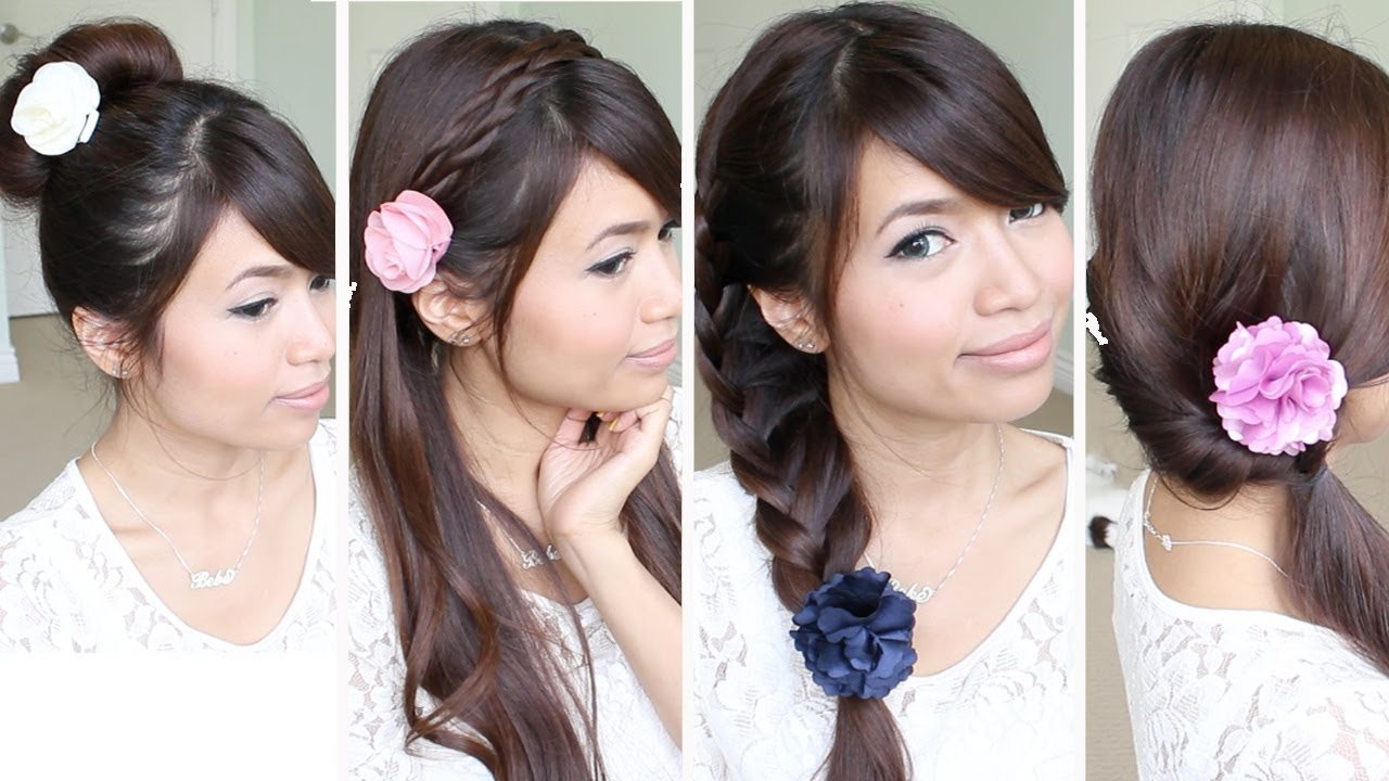 New Quick Easy Back To School Hairstyles For Medium Long Hair Tutorial Youtube Ideas With Pictures