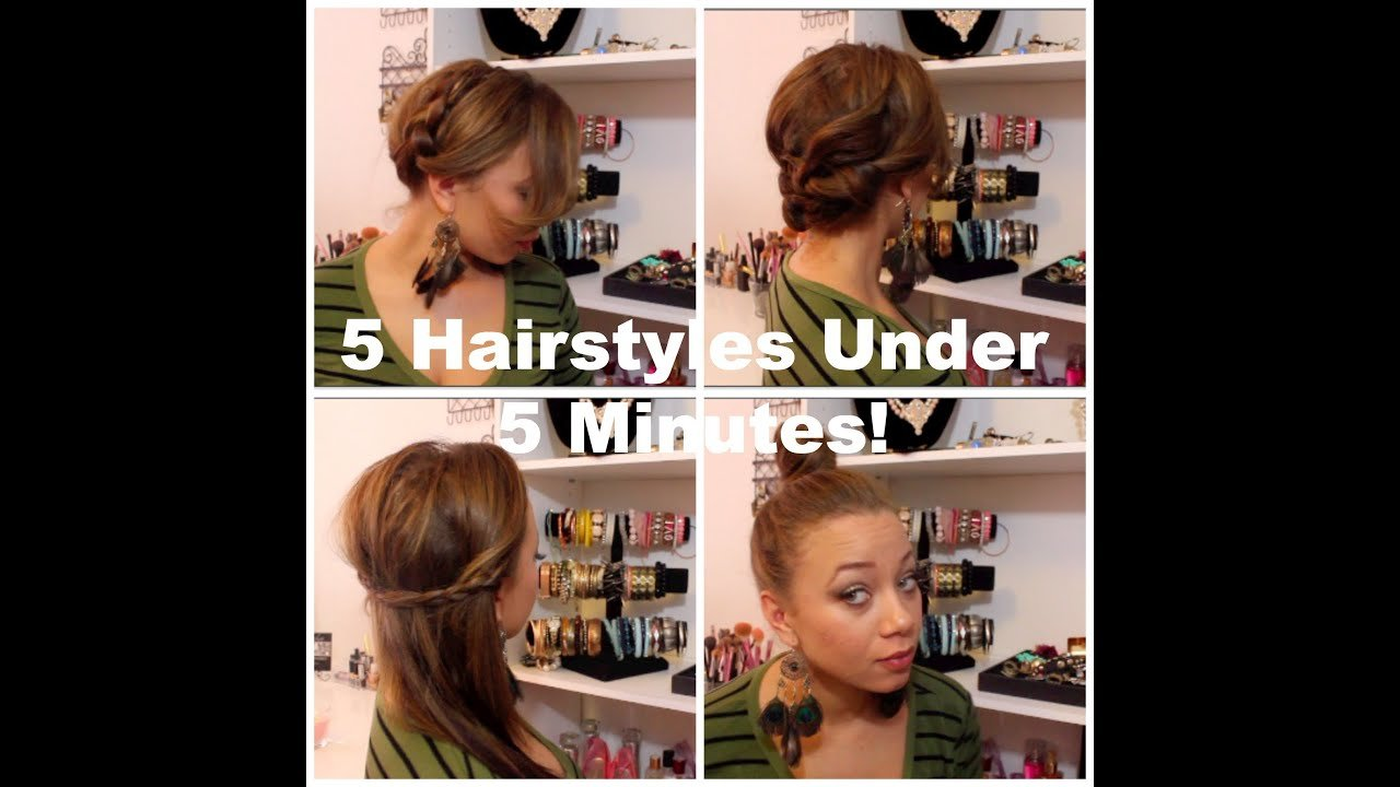 New 5 Hairstyles Under 5 Minutes For Moms On The Go Youtube Ideas With Pictures