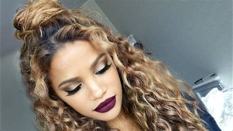New The Curly Half Up Bun Hairstyle Youtube Ideas With Pictures